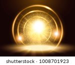 sparkling particles and rings ... | Shutterstock .eps vector #1008701923