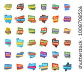 big set of colorful discount... | Shutterstock .eps vector #1008708526
