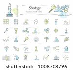 hand drawn strategy icon set.... | Shutterstock .eps vector #1008708796