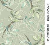 leaves seamless pattern....   Shutterstock . vector #1008709324