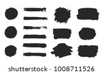 set of black grunge hand paint  ... | Shutterstock .eps vector #1008711526