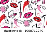 hand drawn doodle fashion... | Shutterstock .eps vector #1008712240
