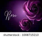 Purple Roses Elements ...