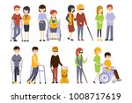 physically handicapped people... | Shutterstock .eps vector #1008717619