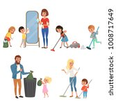 children helping their parents... | Shutterstock .eps vector #1008717649