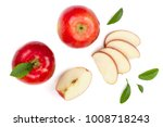 Red Apples With Slices And...