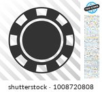 casino chip pictograph with 7... | Shutterstock .eps vector #1008720808