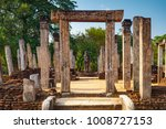 the sacred quadrangle  ancient... | Shutterstock . vector #1008727153