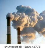 air pollution by smoke coming... | Shutterstock . vector #100872778