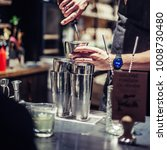 professional bartender making... | Shutterstock . vector #1008730480