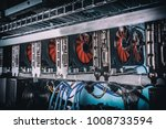 cryptocurrency mining rig using ... | Shutterstock . vector #1008733594