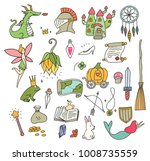 cute fantasy doodle element | Shutterstock .eps vector #1008735559
