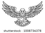 an eagle cartoon character... | Shutterstock . vector #1008736378