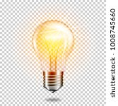 transparent realistic glowing... | Shutterstock .eps vector #1008745660