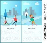 wintertime and cityscape... | Shutterstock .eps vector #1008746344