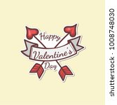 valentines day sticker | Shutterstock .eps vector #1008748030