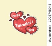 valentines day sticker | Shutterstock .eps vector #1008748048