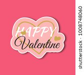 valentines day sticker | Shutterstock .eps vector #1008748060