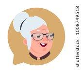 profile icon senior female head ... | Shutterstock .eps vector #1008749518