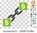bitcoin blockchain icon with...