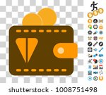ton wallet pictograph with...