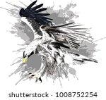 flying eagle. stylized vector... | Shutterstock .eps vector #1008752254