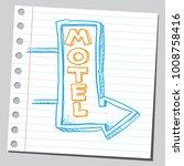 motel sign  sketch style... | Shutterstock .eps vector #1008758416