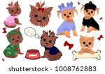 yorkshire terrier. yorkie dog... | Shutterstock .eps vector #1008762883