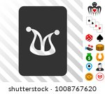 joker gaming card icon with...