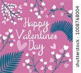 happy valentine's day vector...   Shutterstock .eps vector #1008768004