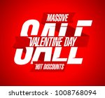valentine s day sale  hot... | Shutterstock . vector #1008768094