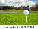 golf ball on irish idyllic... | Shutterstock . vector #100877104