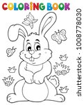 coloring book rabbit theme 7  ...   Shutterstock .eps vector #1008778030