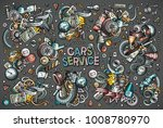 colorful vector hand drawn...   Shutterstock .eps vector #1008780970