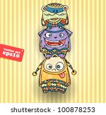 decorative monsters   Shutterstock .eps vector #100878253