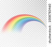 rainbow icon. colorful light... | Shutterstock .eps vector #1008783460