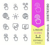 click   line vector icon set.... | Shutterstock .eps vector #1008783580