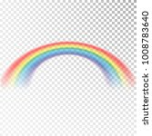 rainbow icon. colorful light... | Shutterstock .eps vector #1008783640