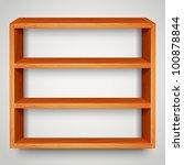 wooden shelf - stock vector