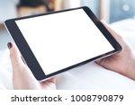mockup image of woman's hands...   Shutterstock . vector #1008790879
