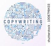 copywriting concept in circle...   Shutterstock .eps vector #1008798433
