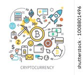 concept of crypto currency.... | Shutterstock .eps vector #1008801496