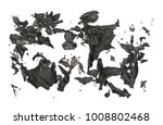 burned  charred paper isolated... | Shutterstock . vector #1008802468
