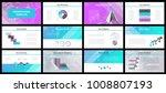 business presentation templates.... | Shutterstock .eps vector #1008807193