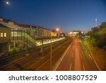 a long exposure highway road... | Shutterstock . vector #1008807529