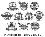 nautical seafarer badges and... | Shutterstock .eps vector #1008810760