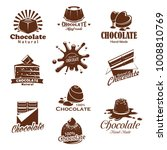chocolate candies and comfits... | Shutterstock .eps vector #1008810769