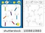 preschool worksheet for... | Shutterstock .eps vector #1008810883
