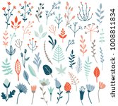 big vector set of floral... | Shutterstock .eps vector #1008811834