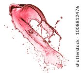 red wine splash  isolated on... | Shutterstock . vector #1008812476